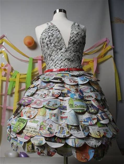 Clothes Out Of Paper - 25 best ideas about newspaper dress on paper