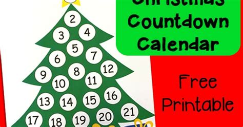printable christmas tree countdown christmas countdown printable advent calendar