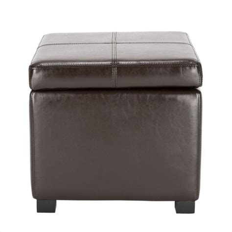 wood and leather ottoman safavieh elizabeth beech wood leather storage ottoman in