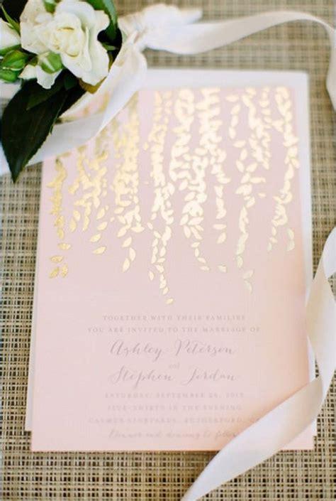 Self Printing Wedding Invitations by Best 25 Gold Wedding Invitations Ideas On