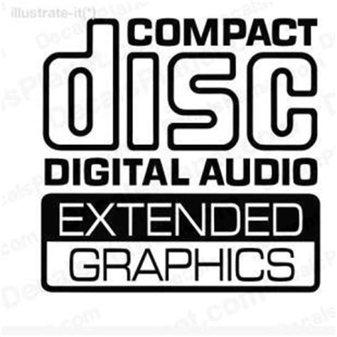 Compact Sound Sticker compact disc digital audio extended graphics decal vinyl