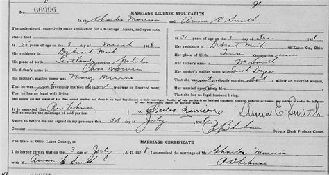 Lucas County Ohio Marriage Records So Many Ancestors June 2015
