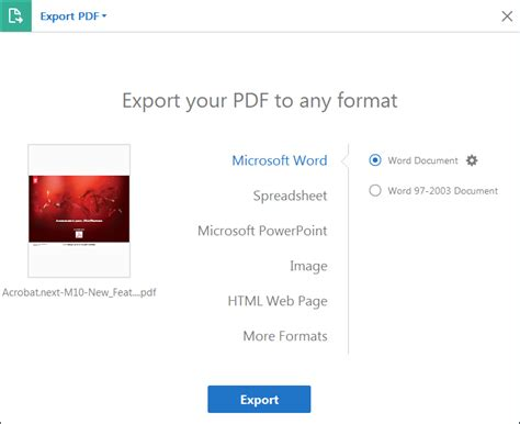 how to save a microsoft word doc as a pdf or other file format