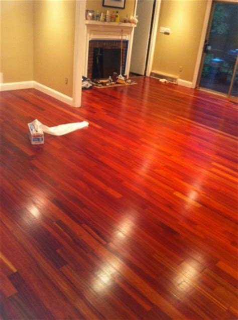 "Bloodwood 3/4"" x 3 1/4"" x 1 7' Clear   Unfinished Flooring"