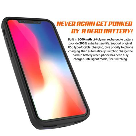 iphone x battery punkjuice 5000mah fast charging power bank w s