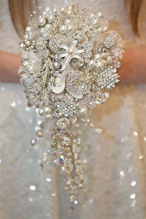 Wedding Bouquet Bling by Wedding Bouquets Brooches And Bling On