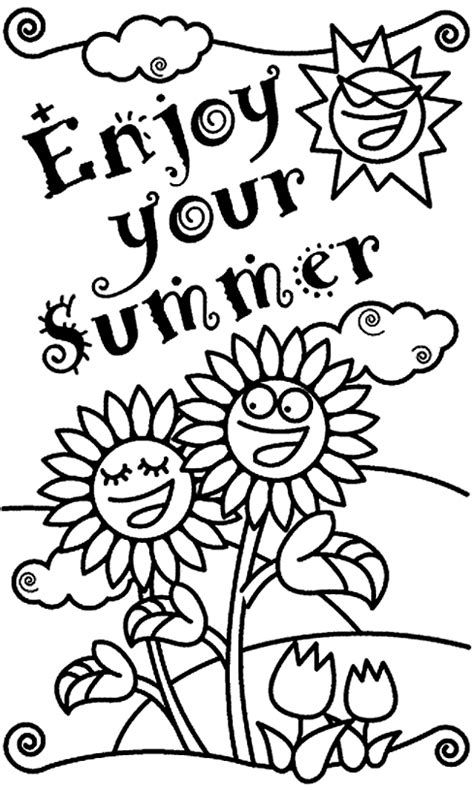 printable coloring pages for summer summer holiday coloring pages