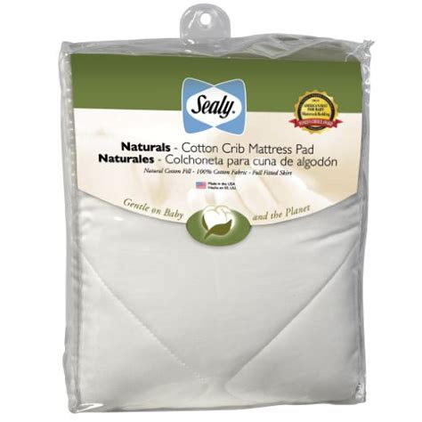 Sealy Naturals Crib Mattress Pad Sealy Cotton Crib Mattress Pad B001e4vtd8 Nursery Bedding Baby Zone