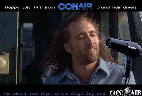 Conair Hair Dryer Nicolas Cage con air nic cage was slowing killing baby o one coconut at a time boxofficeboredom