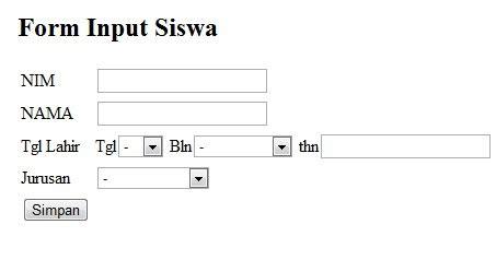 cara membuat form artikel dengan php achul blog cara membuat form simpan php