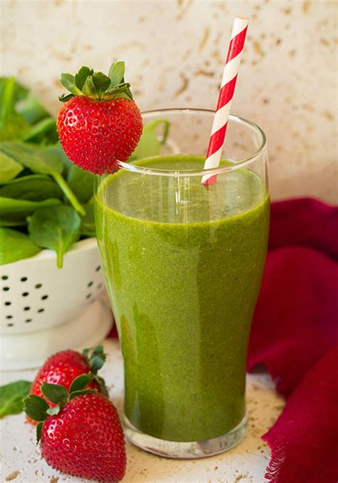 Strawberry Spinach Detox Smoothie by 22 Best Spinach Smoothie Recipes For Weight Loss