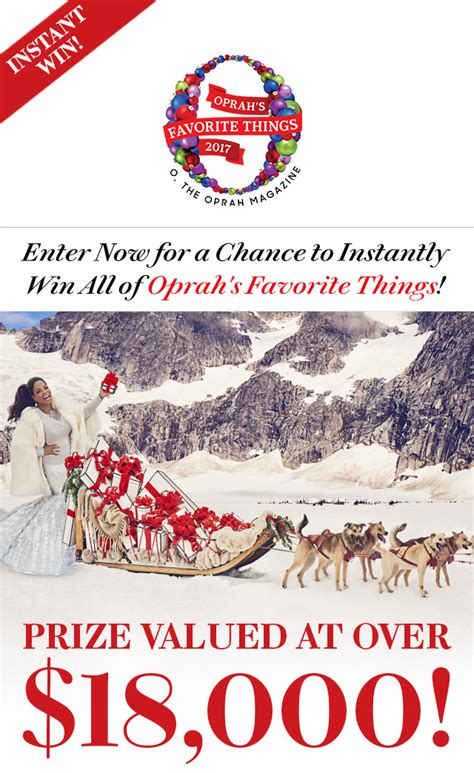 Instant Win Game Sweepstakes Official Rules - oprah magazine instant win 2017 sweepstakes