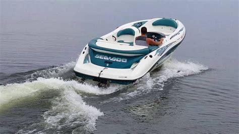 sea doo challenger  top speed  water youtube