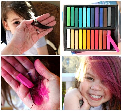hair color that washes out in a day how to dye hair with chalk pastels