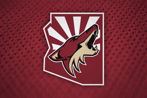 Kaos Baju Hockey Arizona Coyotes Logo Wordmark coyotes confirm arizona name change for 2014 15 icethetics co