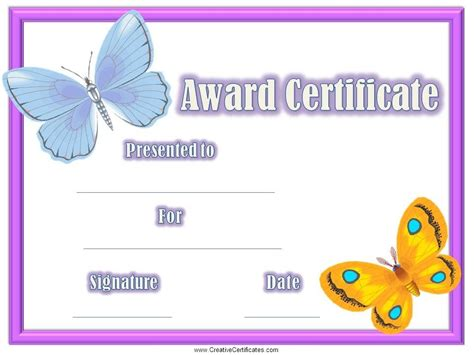 certificate template for children children s certificates free and customizable