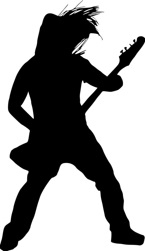 9 Electric Guitar Player Silhouette (PNG Transparent