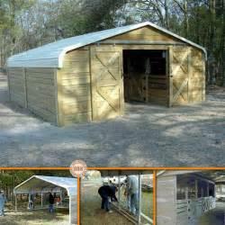 Car Port Diy by Turn A Carport Into A Barn Diy Cozy Home
