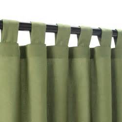 Curtains With Tabs Spectrum Cilantro Sunbrella Outdoor Curtains With Tabs