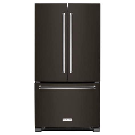 kitchenaid cabinet depth refrigerator krfc300ebs kitchenaid black 36 quot 20 cu ft counter depth