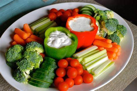 vegetable platters on trays vegetable