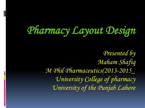 Pharmacy Layout Design Ppt | pharmacy layout ppt