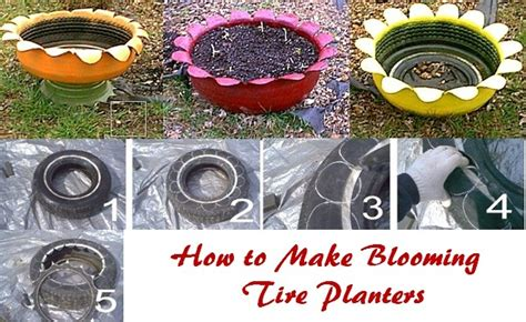 Tire Planters Diy by 11 Tire Planters With Diy Guide Patterns