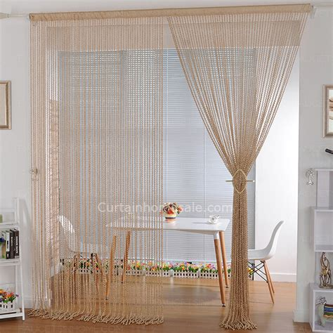 unique sheer curtains unique yarn sheer curtain polyester material in gold color