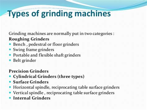 Pedestal Bench Grinder Unit 3 Machining Operations Ppt