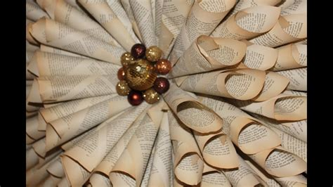 how to make your own christmas decorations out of a4 paper how to make your own wreath vintage book paper decorations