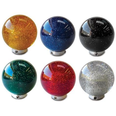 Steel Shift Knob by Metal Flake Shift Knobs 2 Inch Diameter Six Colors