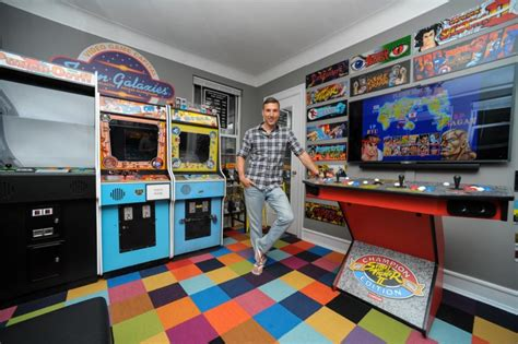 games for the bedroom pics man turns his bedroom into awesome arcade stuffed