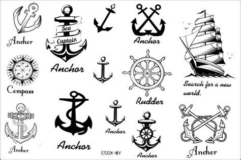 small sailor tattoos new design new release temporary waterproof