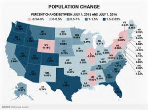 here are the fastest growing and shrinking states in the us