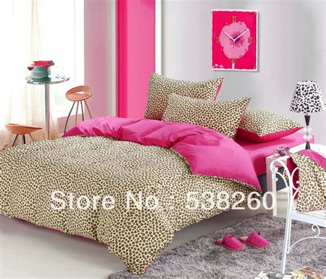 leopard comforter set king size free ship high quality cotton bedding leopard print