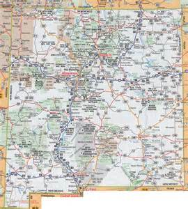 large roads and highways map of new mexico state with