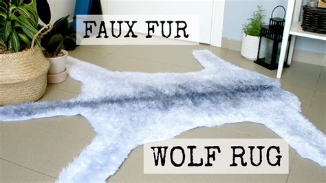 how to make a faux fur rug faux wolf fur rug diy dandiy my crafts and diy projects