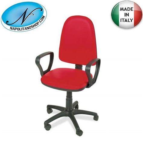 sedie ufficio napoli sedia poltrona ufficio girevole rossa con a casalnuovo