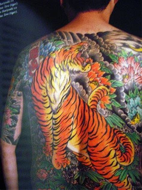 tiger back tattoo 53 angry tiger tattoos on back