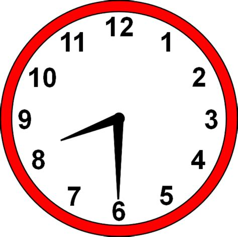 time clipart 8 30 clock clipart