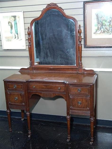 1920 Vanity With Mirror by 1412 1920 S Vanity With Mirror Lot 1412