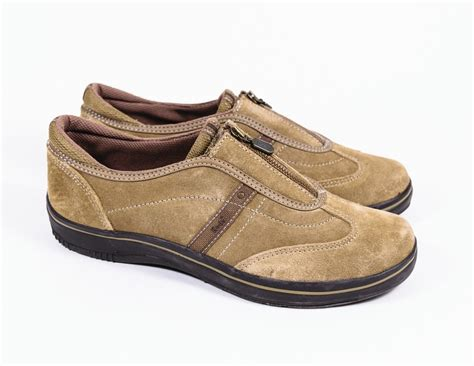 womens keds taupe suede leather slip on sneakers