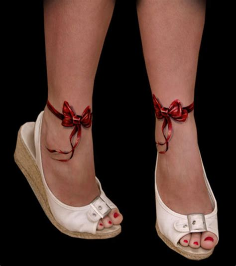3d tattoo on foot 7 awesome 3d foot tattoos