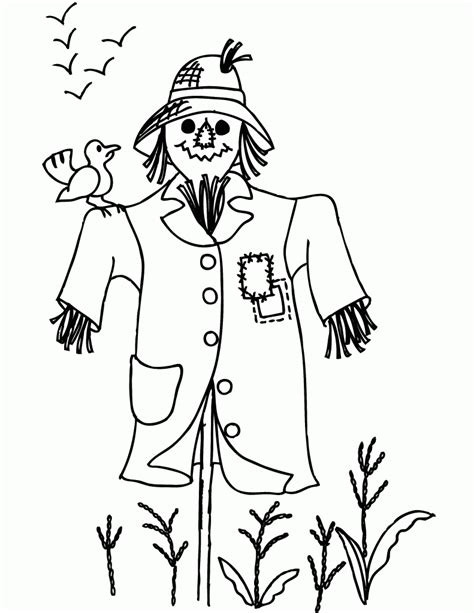 scarecrow coloring pages free printable free printable scarecrow coloring pages for kids