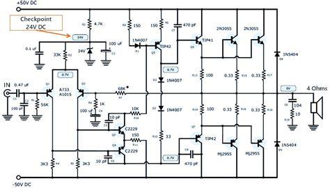 a1015 transistor circuit 120w power lifier power supply schematic design