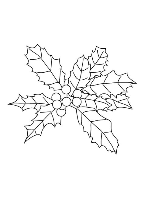 coloring pages of christmas holly coloring pages holly