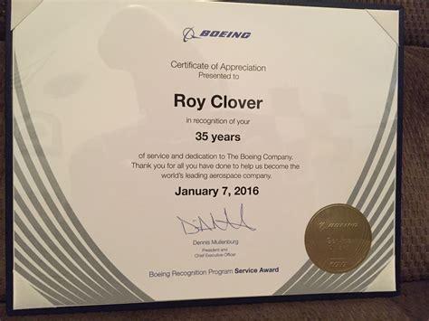 My 35 year anniversary plaque    Boeing   Anniversary