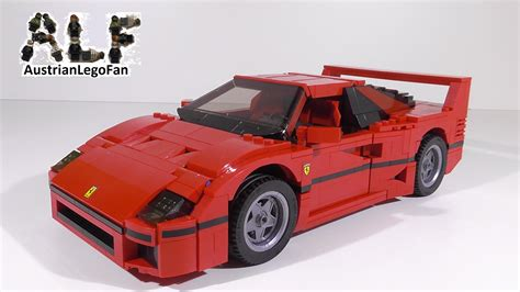 Lego Ferrari F40 by Lego Creator 10248 Ferrari F40 Lego Speed Build Review