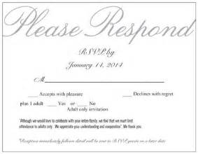 rsvp wedding invitations etiquette how to make it clear there s no children weddings