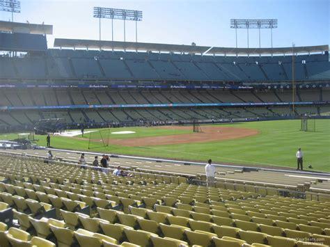 dodger stadium sections dodger stadium section 42 rateyourseats com
